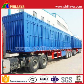 Box Cargo semi trailer 3+2+3axles