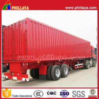 Box Cargo semi trailer 2axles