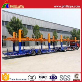 Car carrier centre axle trailer