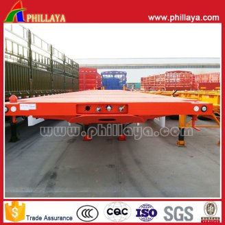 2axles flat stye container semi trailer