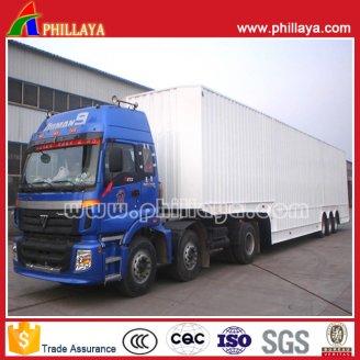 Box Cargo semi trailer 3axles