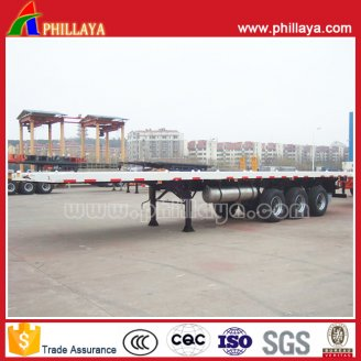 3axles flat stye container semi trailer