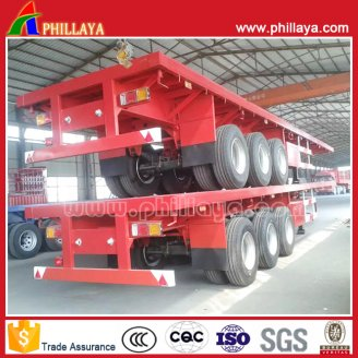 3axles flat stye container semi trailer