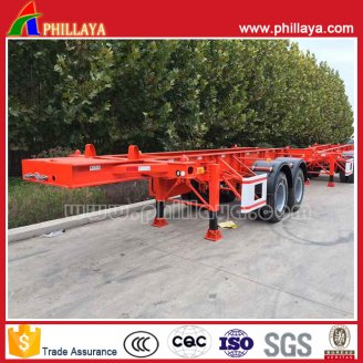20fet skeleton stye container semi trailer