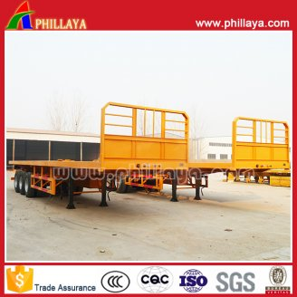Flat Bed Style Container Semi Trailer