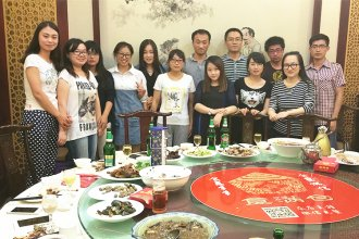 The employee's birthday party, Sep 2015